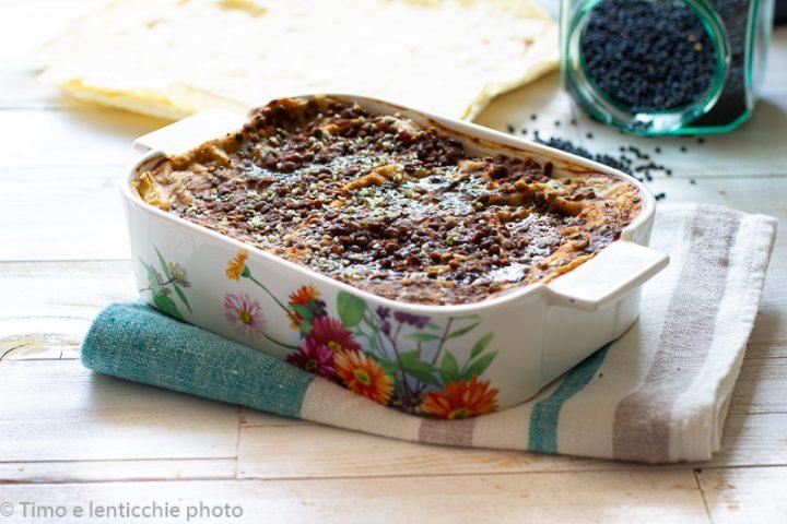 lasagne di pane carasau e lenticchie