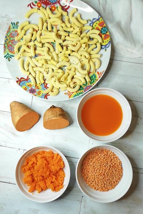 ingredienti pasta lenticchie