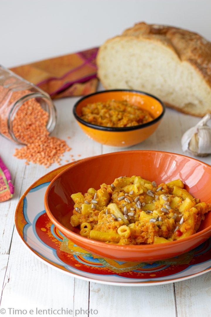 Pasta al ragù di lenticchie fatta in casa