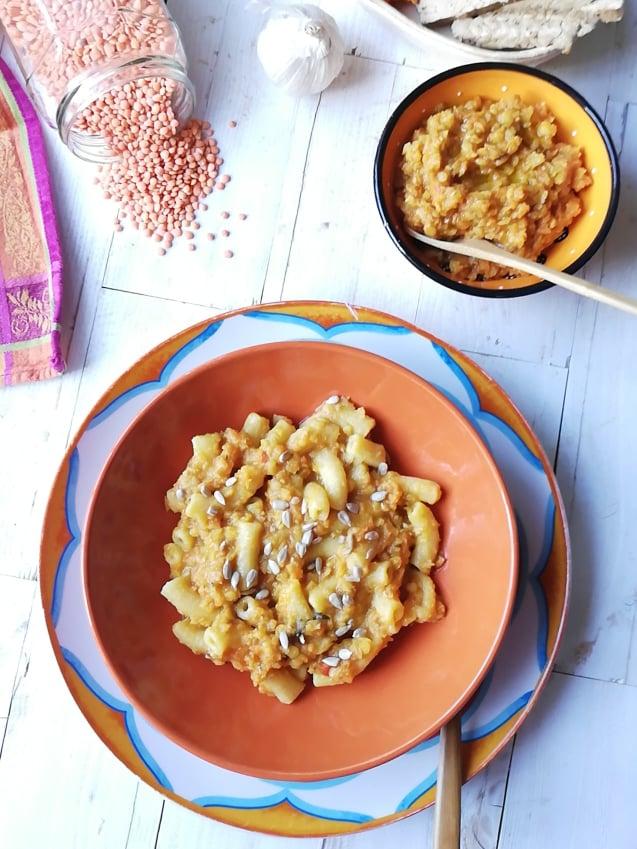 piatto finito pasta lenticchie