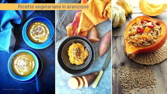 Ricette vegetariane in arancione