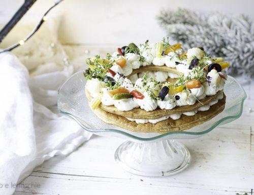 Cream tarte salata con germogli