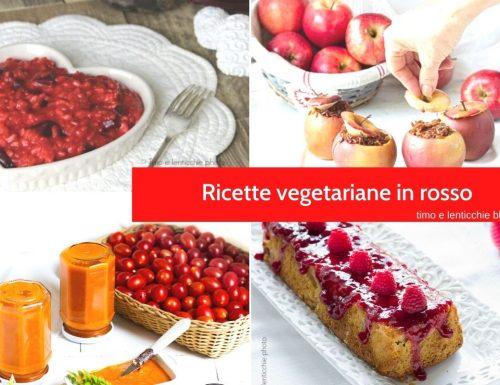 Ricette vegetariane in rosso cromodieta