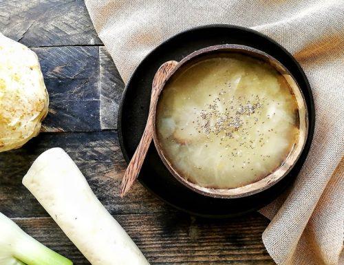 Zuppa in bianco con daikon ravanello brucia grassi