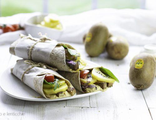 Wraps proteici ai kiwi gialli ricetta fit