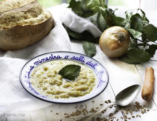 Zuppa di farro e cicerchie ricetta semplice