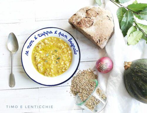 Zuppa orzo lenticchie e zucca ricetta semplice
