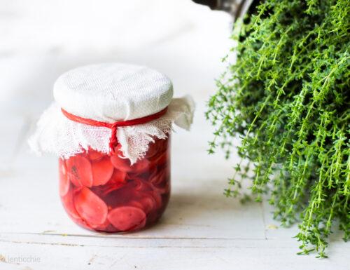 Ravanelli fermentati con acidulato di umeboshi