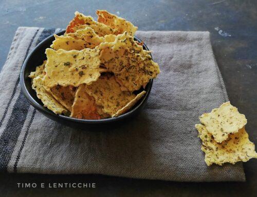 Chips di lenticchie rosse – crackers