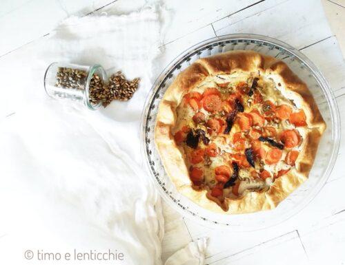 Torta salata cannellini e carote piatto unico