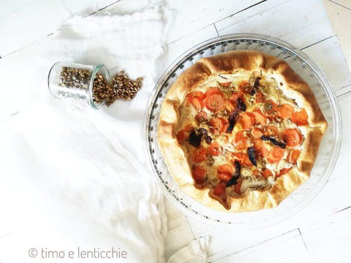 torta salata cannellini e carote 1