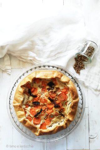 torta salata cannellini e carote