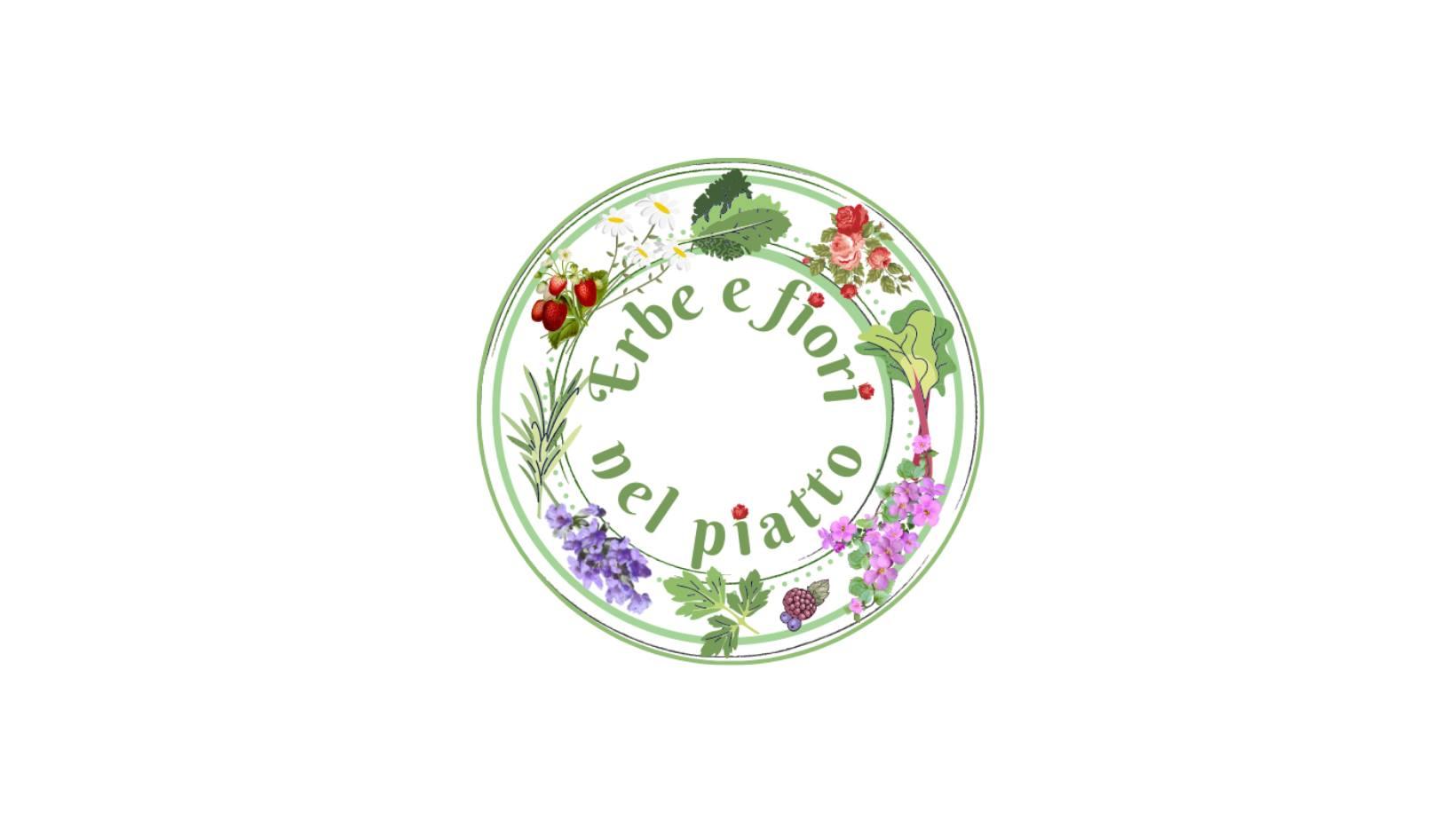erbe e fiori nel piatto