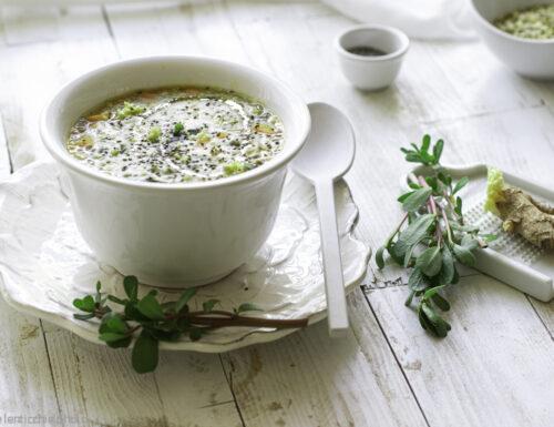 Zuppa di portulaca con legumi ricetta in 30 minuti
