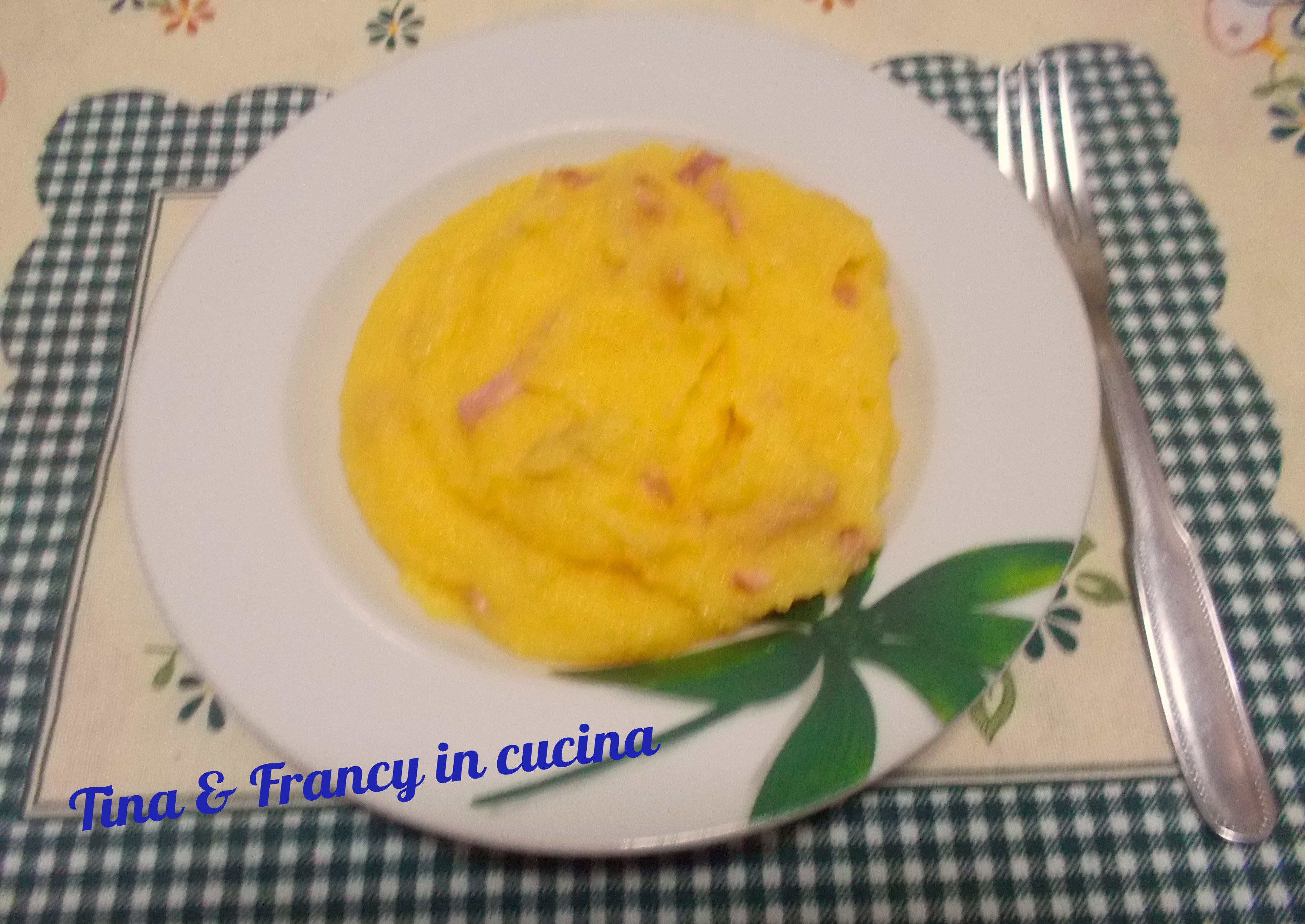 Polenta Con Pancetta Tina E Francy In Cucina