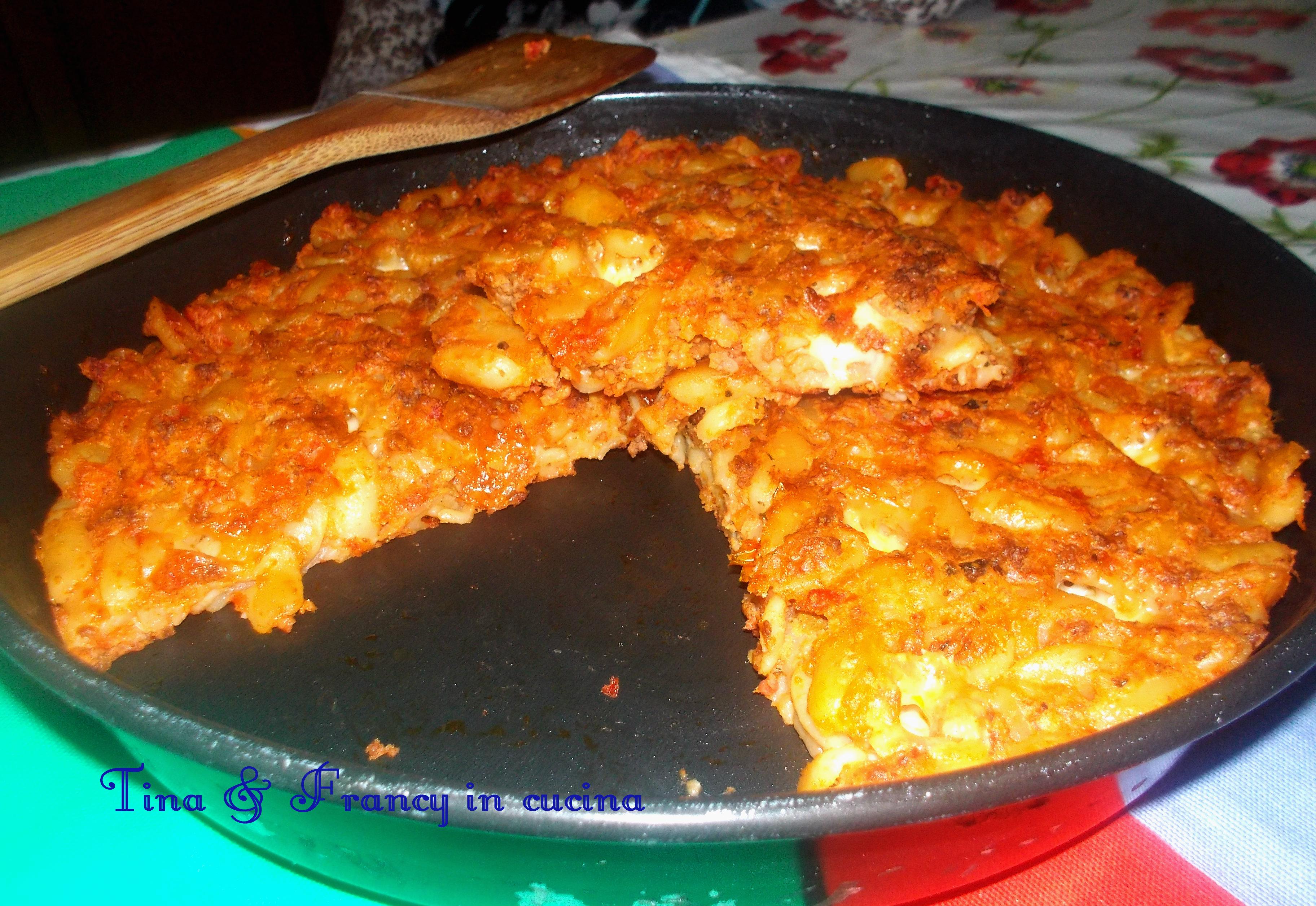 Ricetta di frittata di pasta al forno