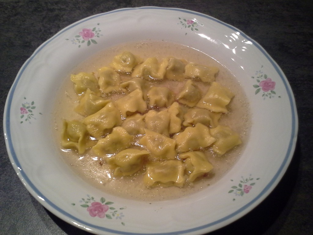 Agnolotti in brodo vegetale
