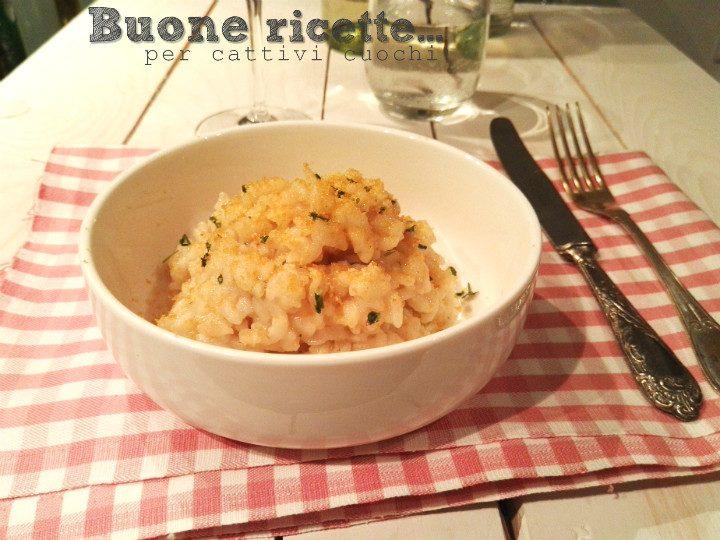 Risotto cremoso all'aglio olio peperoncino e bottarga
