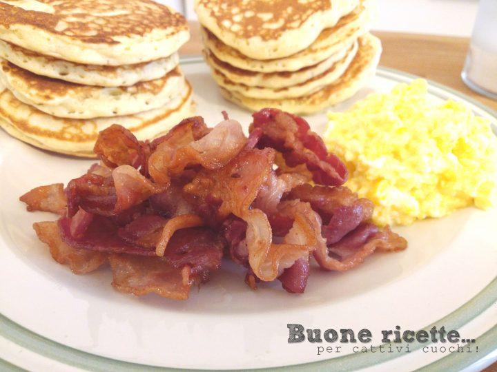 Scrumbled eggs e bacon… uova e pancetta!