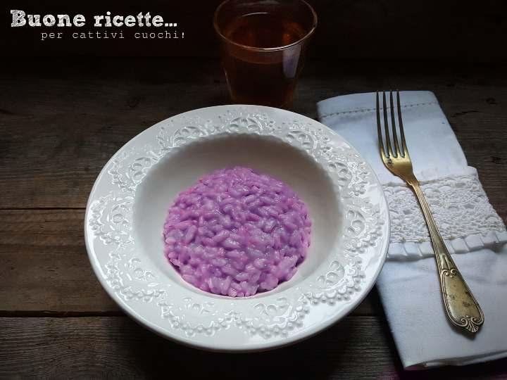 Risotto al cavolo viola ricetta elegante