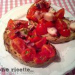 Bruschetta polpo e pomodorini