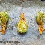 Fiori di zucca al forno