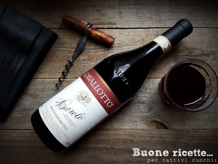Bottiglia vino barolo abbinamento ricette