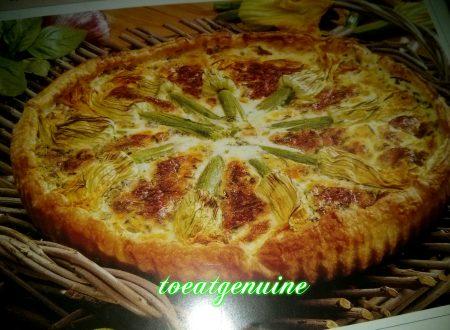CAKE WITH FLOWERS OF COURGETTE * TORTA CON FIORI DI ZUCCHINA