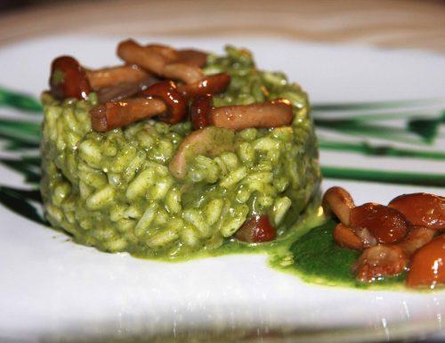 Risotto spinaci e funghi