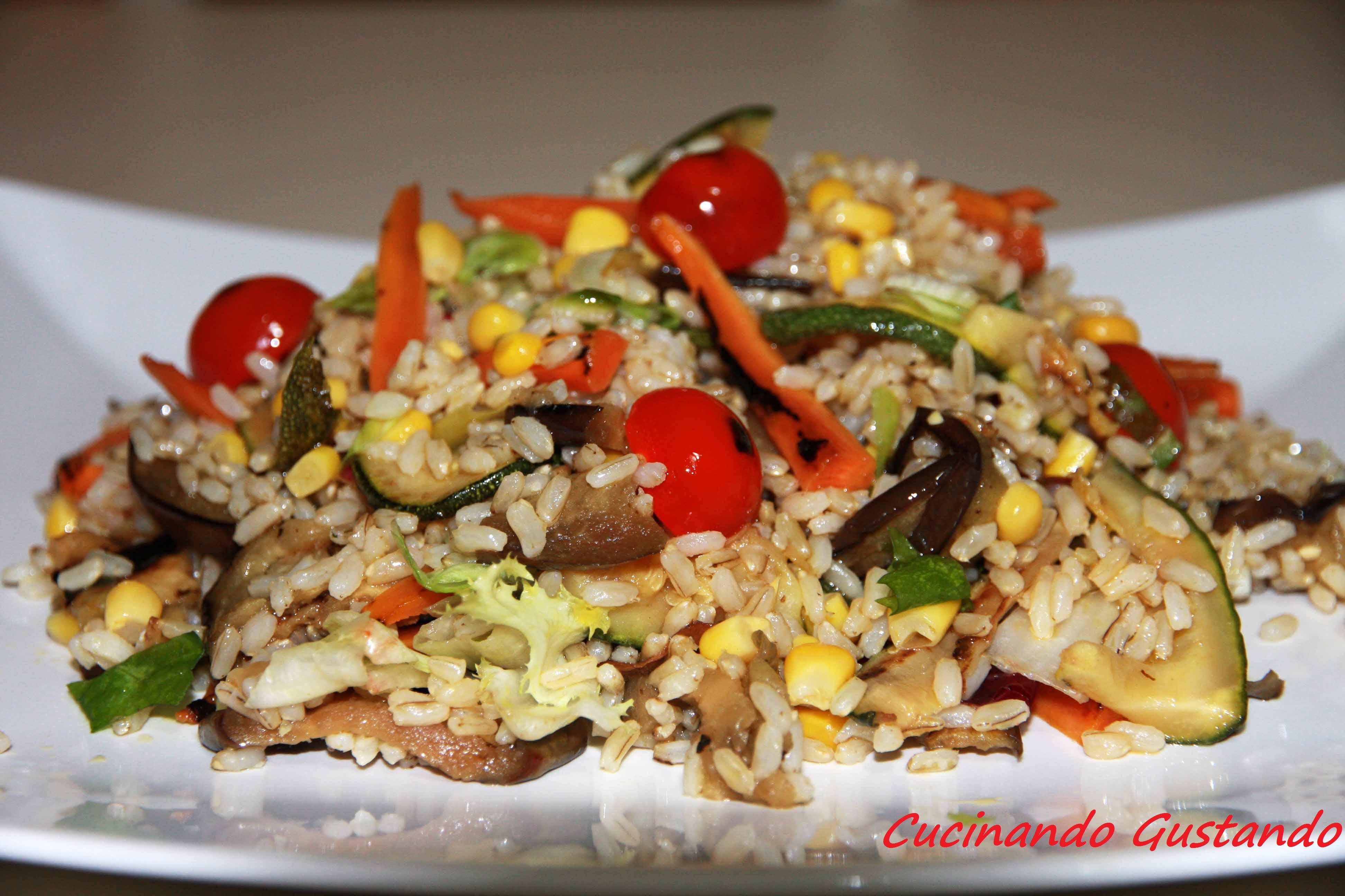 dieta di riso integrale e acqua