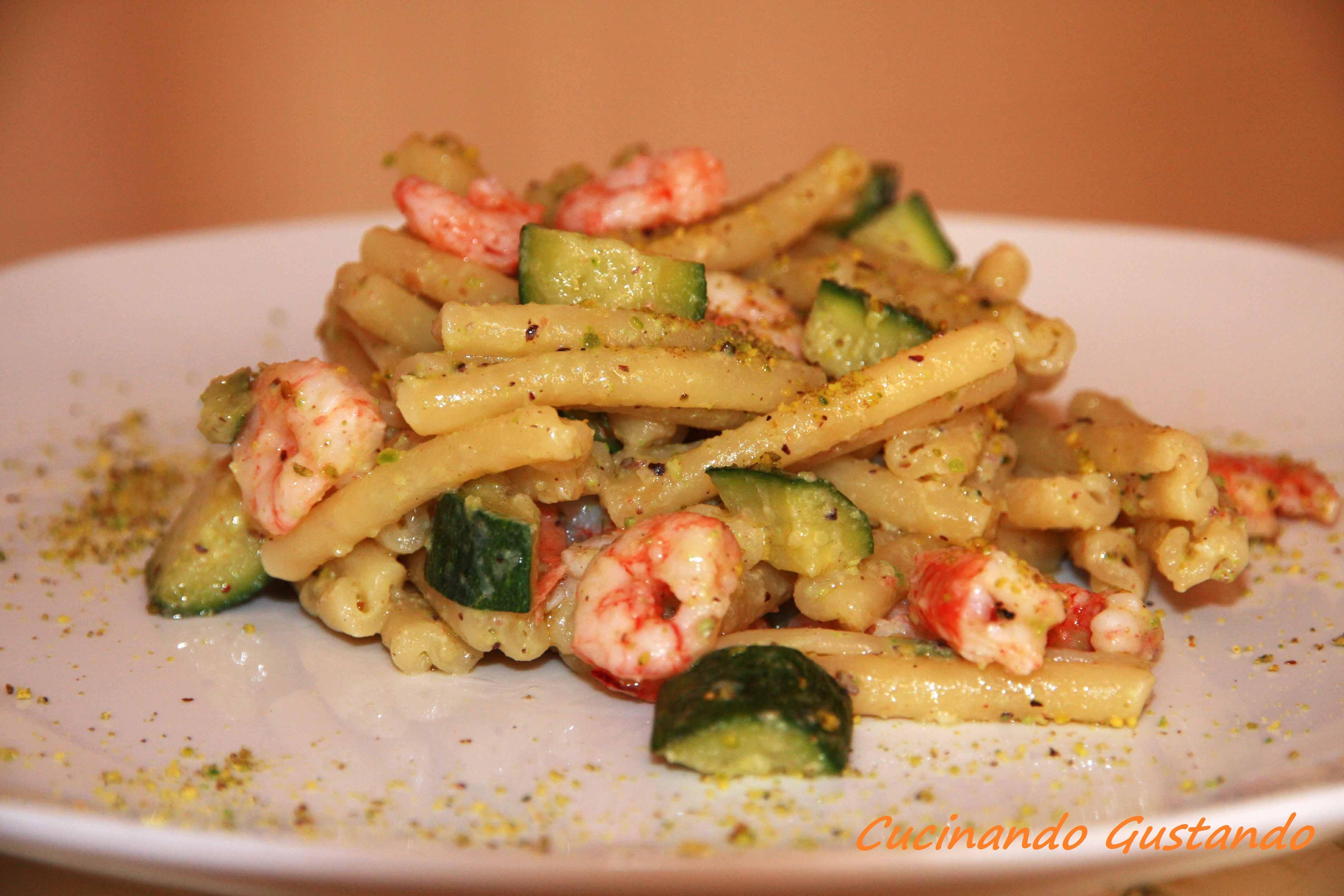 Pasta Pesto Di Pistacchi Zucchine Gamberi