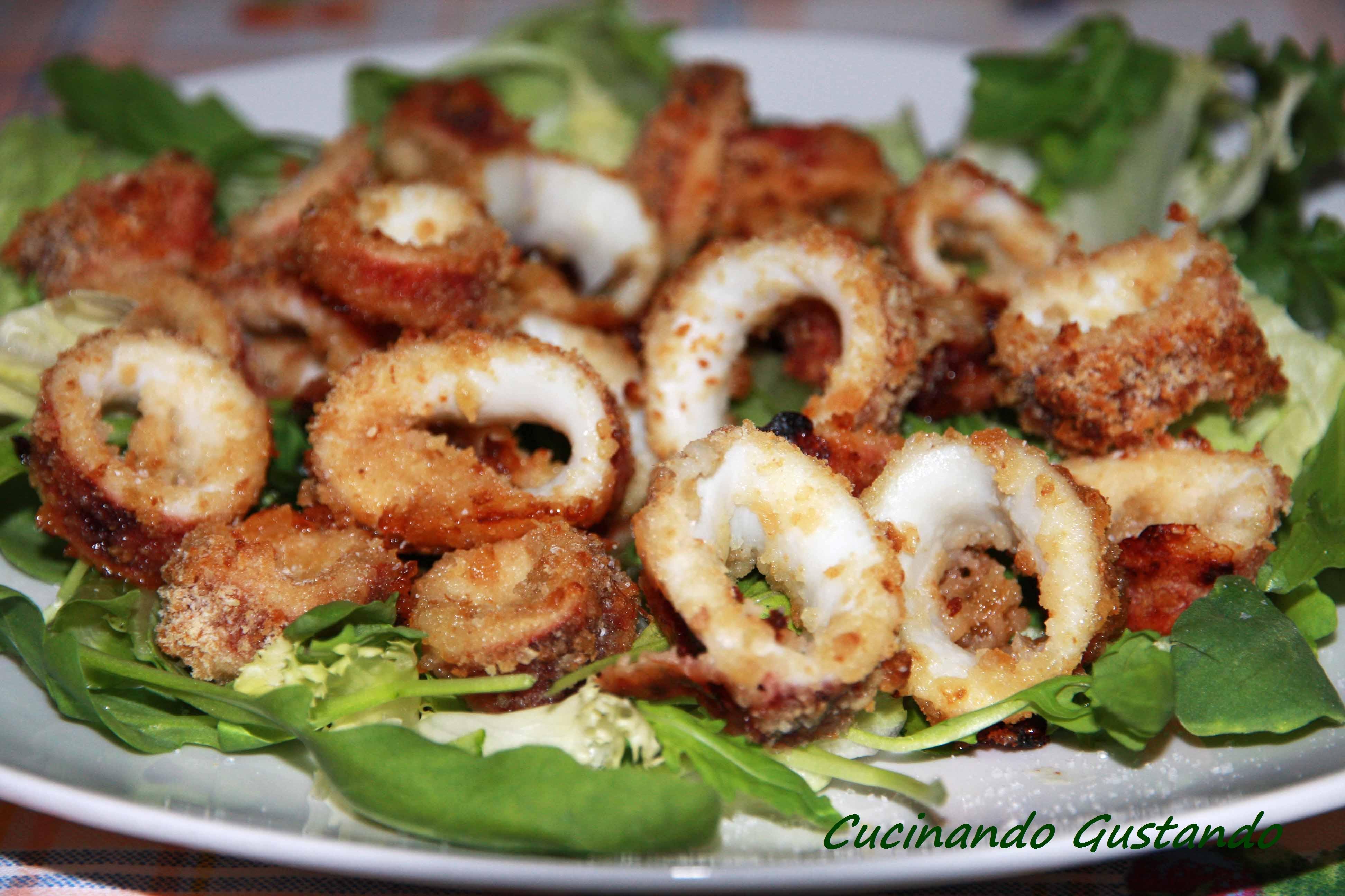 Calamari impanati al forno ricetta leggera e veloce
