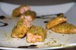 Filetto di salmone in crosta di pistacchio