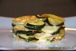 Zucchine patate e formaggio al forno