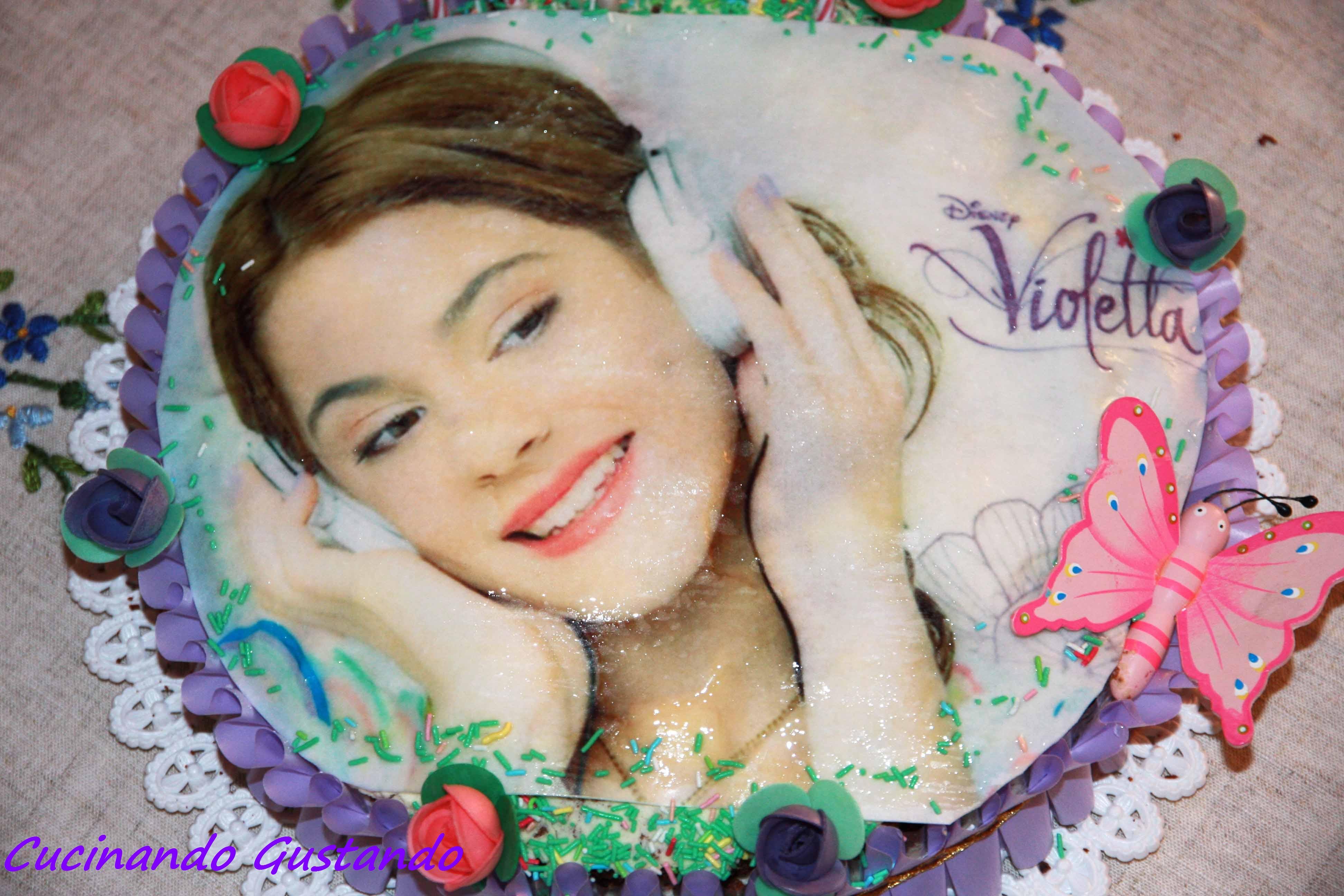 Torta Compleanno Violetta.Torta Di Violetta Al Cioccolato