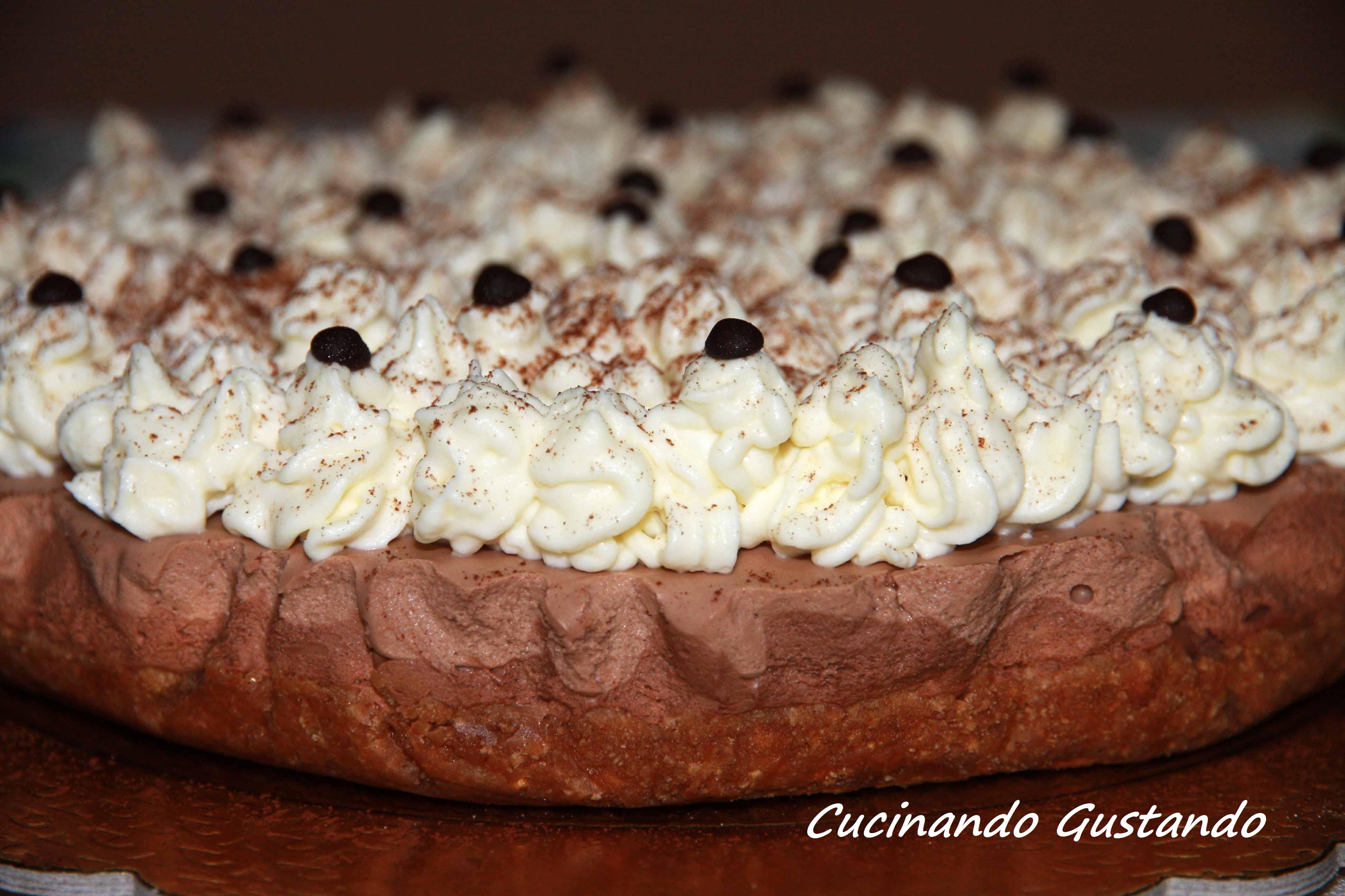 Cheesecake tre cioccolati senza zucchero