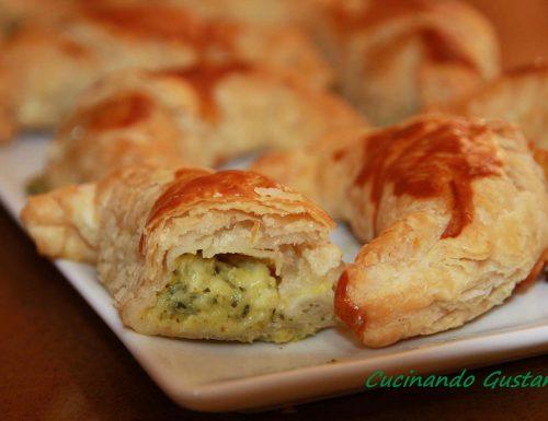 Cornetti di sfoglia con crema di zucchine
