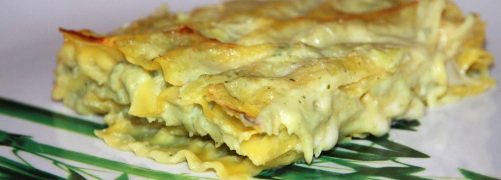 Lasagne con crema di cavolfiori