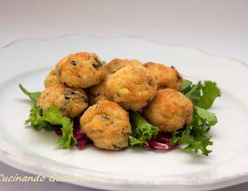 Polpette di ricotta e zucchine al forno