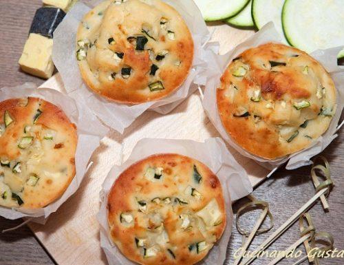 Muffin zucchine salati