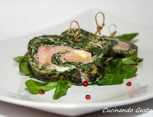 Frittata spinaci prosciutto formaggio al forno