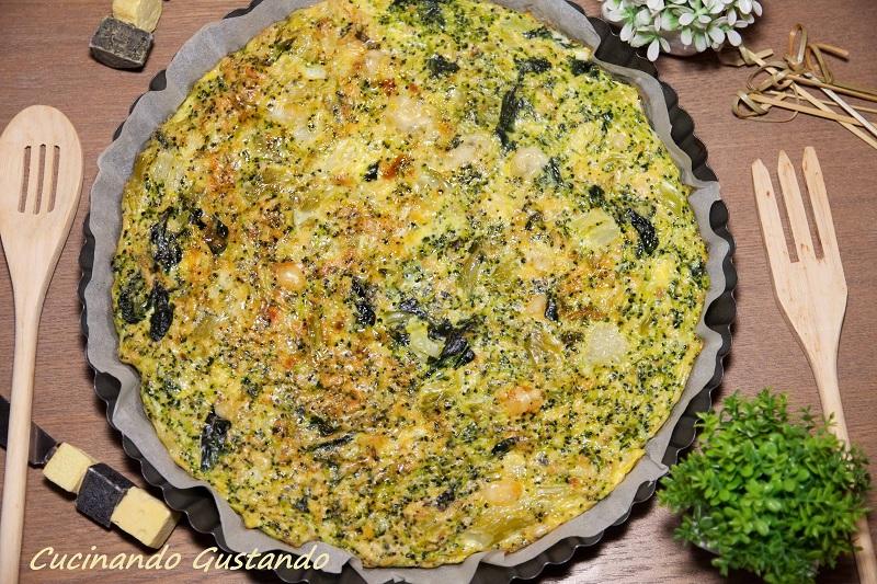 Frittata di broccoli cotta al forno