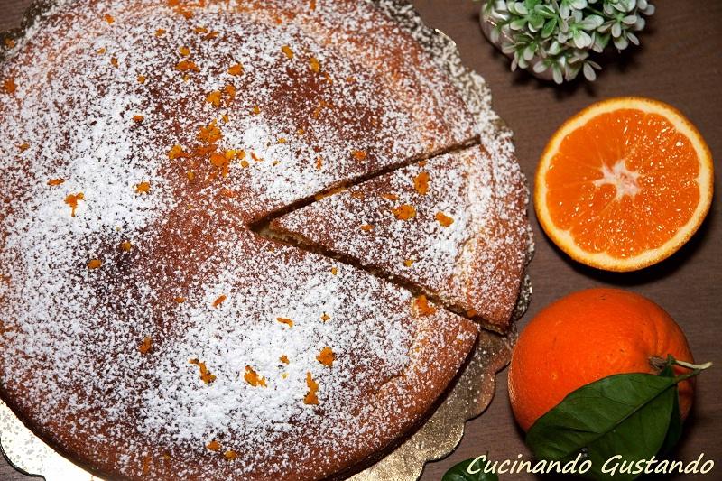 Torta arancia senza burro