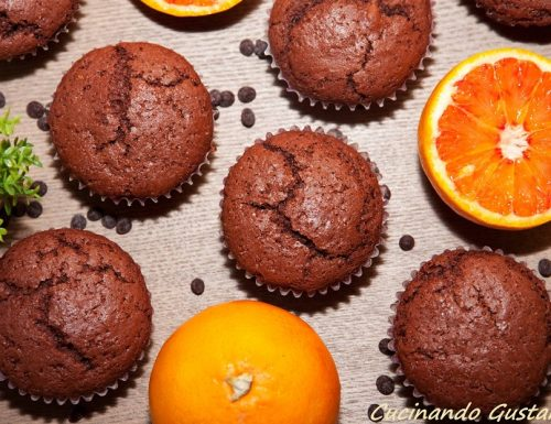 Muffin cioccolato arancia senza burro