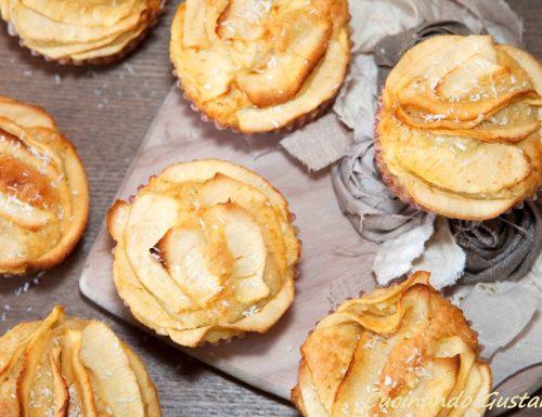 Muffin al cocco e mele