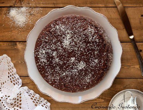 Torta cocco yogurt e cioccolato