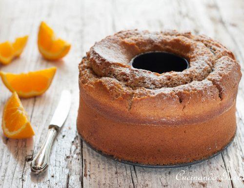 Ciambella integrale con arancia senza uova e senza burro, ricetta vegana