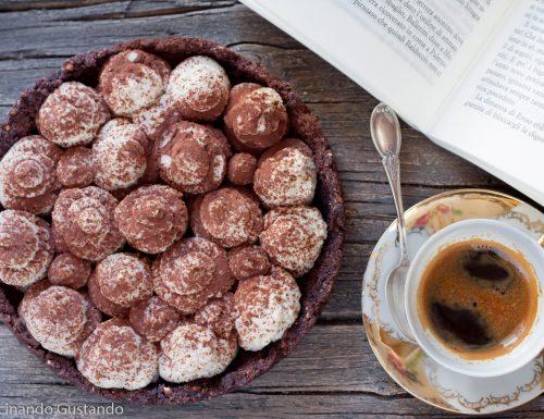 Torta fredda caffè e cioccolato senza cottura