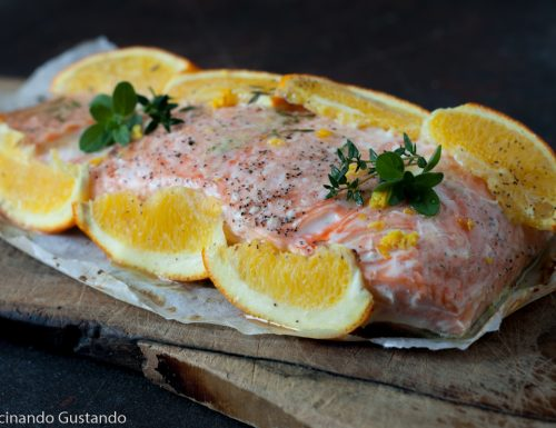 Salmone all'arancia