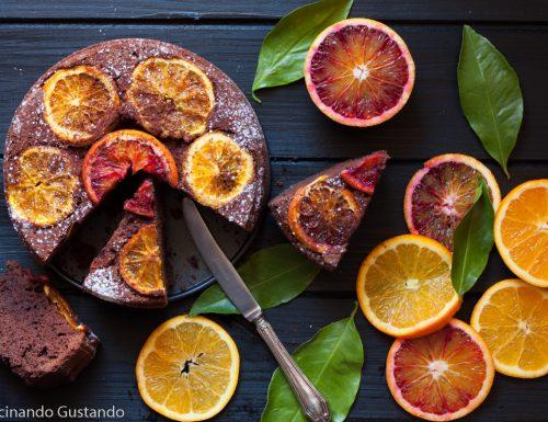 Torta cioccolato e arance senza burro
